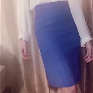Blue J.Crew Pencil Skirt